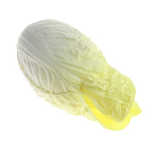 PETSOLA Realistische Gemüse Kunstgemüse Chinakohl künstliche Früchte Für Zuhause Küche Markt Dekoration - Gelb