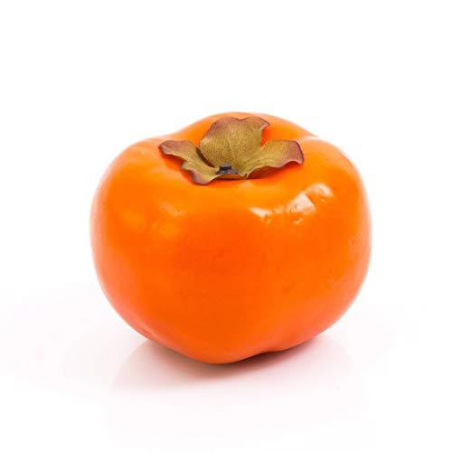 artplants.de Set 3 x Künstliche Kaki, orange, 7cm, Ø 8cm - Künstliche Früchte - Kunstobst