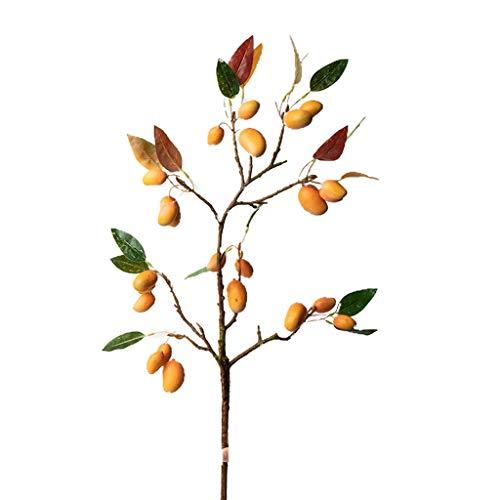 PRIDE S Gefälschte Blumen Künstliche Mango-Baum-Zweig Getrocknete Blumen-Blumenstrauß Wohnzimmer Hauptdekoration Blumenschmuck Dekoration