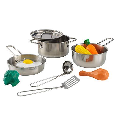 KidKraft 63186 Deluxe Kochset mit Lebensmitteln, pastellfarben