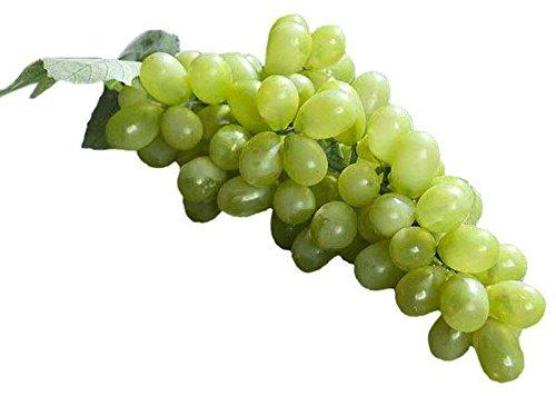 Künstliche Weintrauben - Große Rispe: 88 Trauben - Lebensechte & Naturgetreue Dekoweintrauben / Kunstweintrauben / Dekoration für Obstschale - Kunstobst / Plastikobst (Grün, Länge: 25cm)