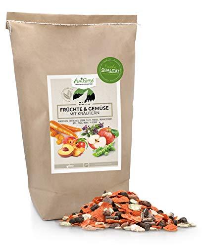 AniForte Barf Zusatz für Hunde Früchte und Gemüse mit Kräutern 5kg - Naturprodukt, Barf Ergänzungsfutter, glutenfrei, Flocken ohne künstliche Zusätze, 100% Natur Ergänzung barfen, Futter