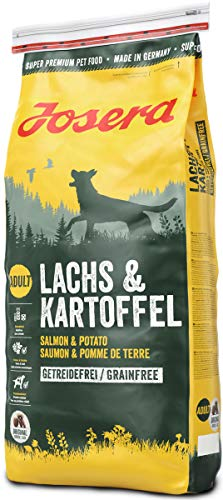 JOSERA Lachs & Kartoffel, getreidefreies Hundefutter, Lachs als einzige tierische Proteinquelle, Super Premium Trockenfutter für ausgewachsene Hunde, 1er Pack (1 x 15 kg)