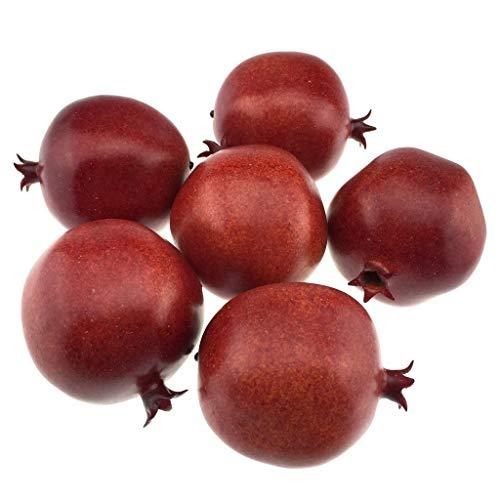 Gresorth 6 Stück Lebensechte Künstliche Granatapfel Gefälschte Früchte Obst Deko Dekoate