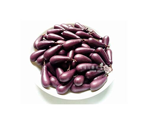 My youth Realistisch 10 Stück/Set Miniatur-Frucht-Gemüse-Küche künstliche gefälschter Aubergine Gurke Apple-Deko Tisch Spielzeug for Mädchen-Geschenk (Color : 10Pcs Eggplant)