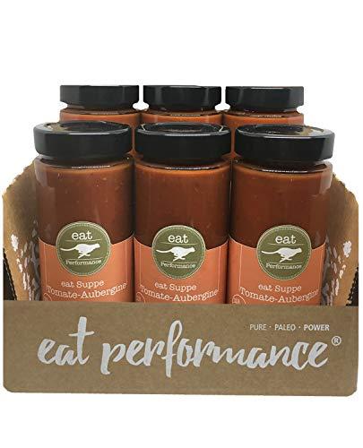 eat Performance® Tomate Aubergine Suppe (6x 350ml) - Bio, Paleo, Frisch Gekocht Aus 100% Natürlichen Zutaten
