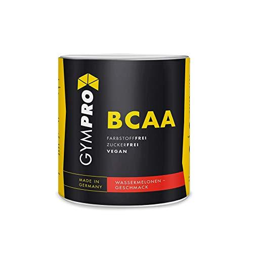 GymPro - BCAA Pulver (Wassermelone, 500g) fruchtiger Aminosäure Drink, hochdosierte Aminos 2:1:1, Vegan - Bcaa Powder Ohne Zucker & künstliche Farbstoffe - Made in Germany