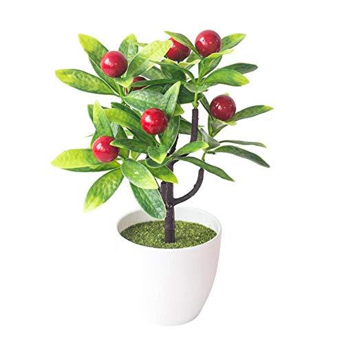YQE Künstliche Pflanzen, Obst, Chili, Apfel, Tischdekoration, 1 Stück Red Cherry Tomate