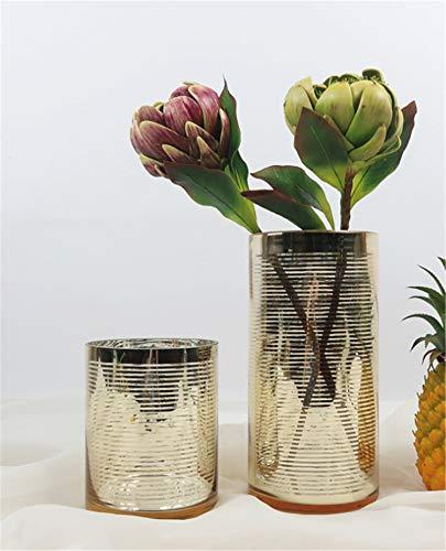 Skyseen Künstliche Artischocken, Stiel, künstliches Gemüse, Hochzeit, Party, Heimdekoration, 2 Stück Original Medium Design A