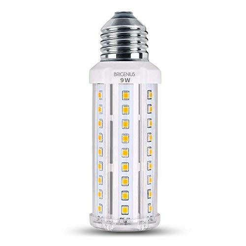 LED Maiskolben E27 9W LED Mais, Warmweiß Licht 3000K Energiesparende Glühlampe für Wandlampe Deckenleuchte Tischlampe, 360 ° Abstrahlwinkel Birne für Wohnzimmer Schlafzimmer Küche [Energieklasse A++]