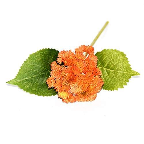 LEIXNDPLBO Super süße fleischige Blumenkohl künstliche Blumen Indoor Desktop Dekoration Blumen Kunststoff gefälschte Pflanzen, Orange
