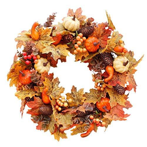 Künstliche Kürbisse Kranz Herbstlaub Ahornblatt Herbst Kranz Haustür Dekor Kranz Wand Hochzeit Dekoration