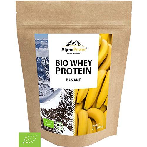 ALPENPOWER | BIO WHEY Protein Banane | Ohne Zusatzstoffe | 100% natürliche Zutaten | Bio-Milch aus Bayern und Österreich | Superfood Banane | Hochwertiges Eiweißpulver | 1000 g