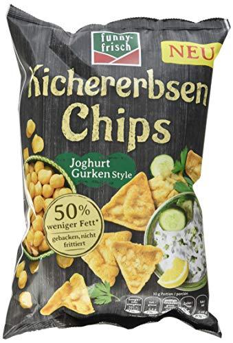 funny-frisch Kichererbsen Chips Joghurt Gurken Style, 10er Pack (10 x 80 g)