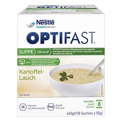 OPTIFAST KONZEPT Diät Suppe Kartoffel Lauch zum Abnehmen   eiweißreicher Mahlzeitenersatz mit wichtigen Vitaminen und Mineralstoffen   schnell zubereitet und lecker im Geschmack   8 x 55g