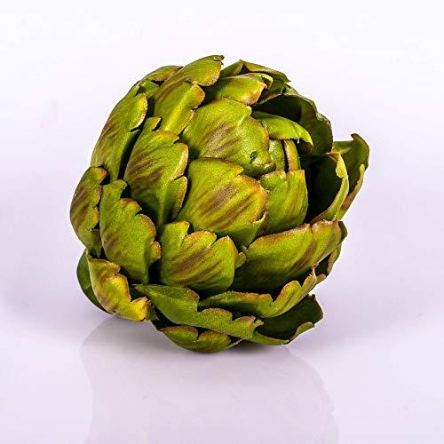 artplants.de Künstliche Artischocke, 11cm, Ø 11cm - Deko Obst - Plastik Obst