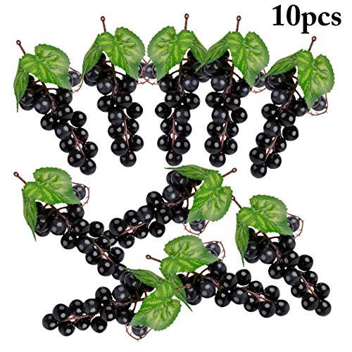 Künstliche Trauben,12 Stück Verschiedene künstliche Trauben gefrostet Trauben Gummitrauben Gefälschte Früchte Tischdekoration Früchte für Vintage gefallen Obst Wein Dekor Faux Obst Requisiten