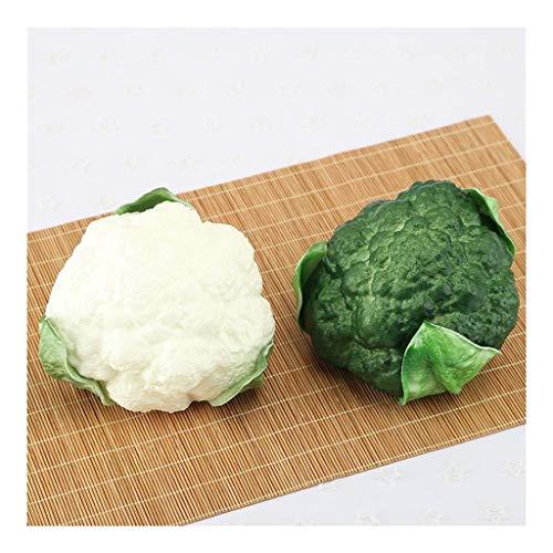BJYX Simuliertes Gemüse,2pcs Lebensechte Künstliche Brokkoli-Blumenkohl-Simulation Gefälschtes Gemüse Hauptküchendekoration