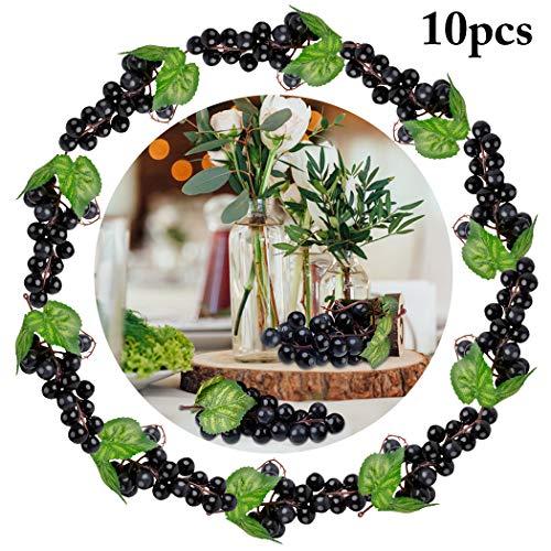 JUSTDOLIFE Künstliche Trauben Dekorative Gefälschte Früchte Tischdekoration Früchte Hängende Ornamente