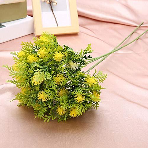 HTRN Künstliche Blumen Künstliche Deko Blumen Künstliche Drachenfrucht Pflanzen Dekoration Blume künstliche früchte Künstliche Pflanzen Dekoration Korb vase Foto Requisiten-Gelb